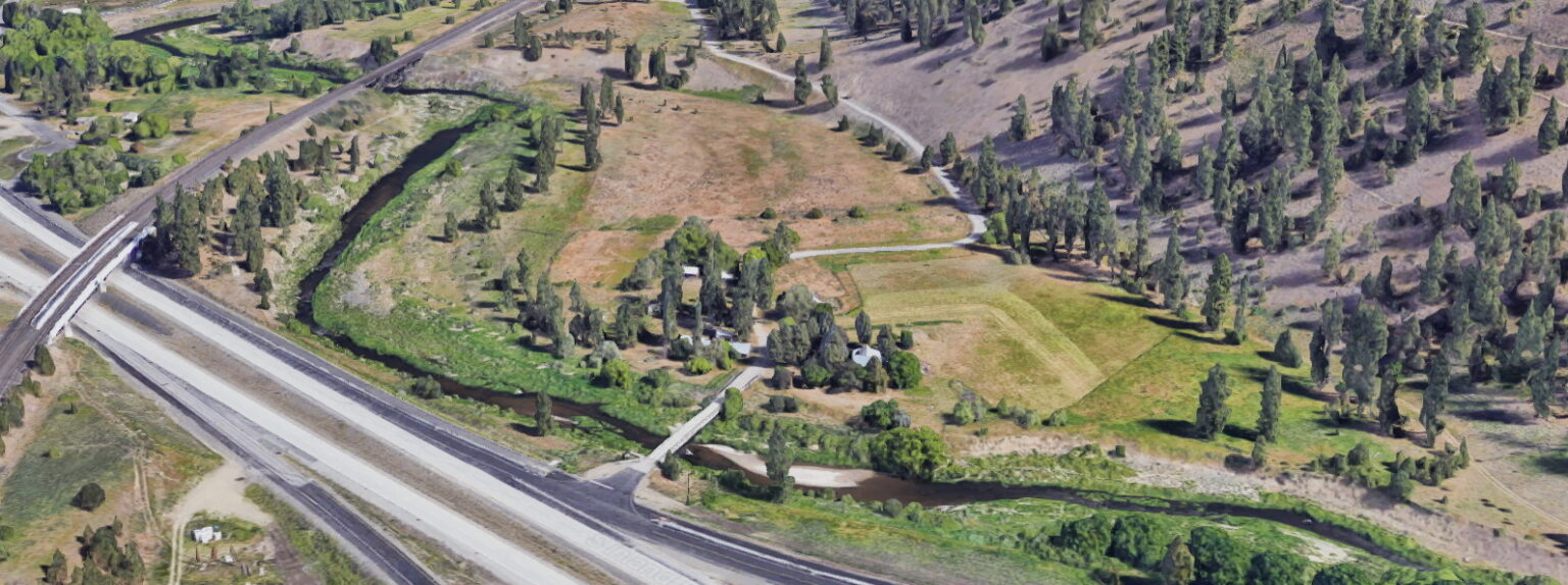 Aerial view of Latah Valley